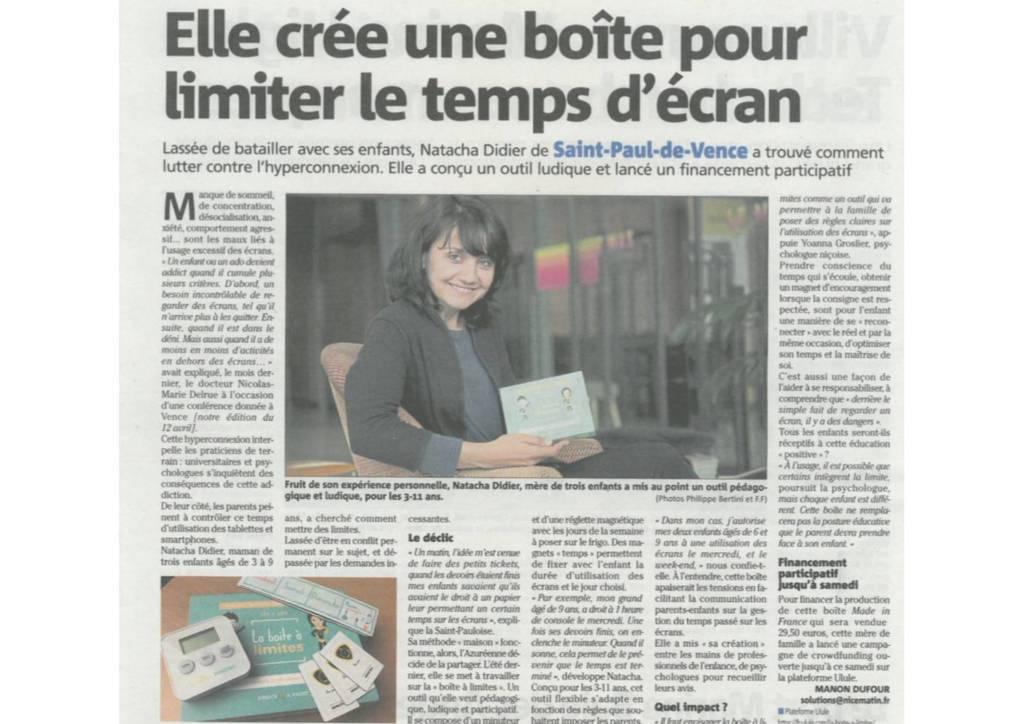 article presse nice matin