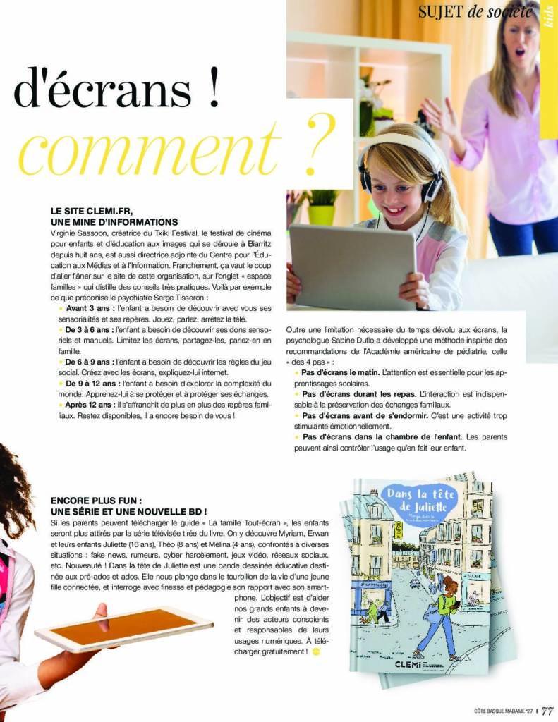 Article enfant et écrans